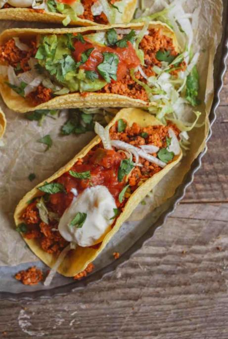 Heart Healthy                                              Spicy Roasted Walnut & Cauliflower Tacos