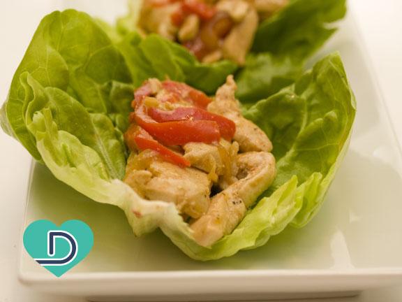 Avocado Chicken Lettuce Wraps