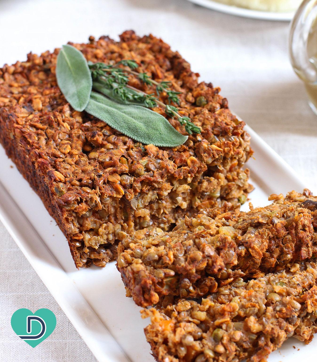 Thanksgiving Vegetarian Lentil Loaf