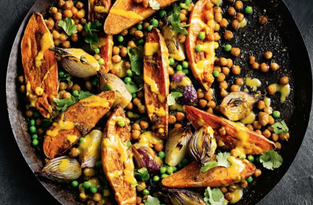 Dr. Dave's Favorite Sweet Potato and Chick Pea Bake